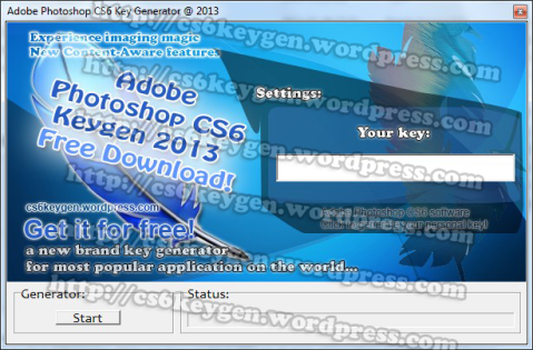 Adobe Photoshop CS6 Keygen 2013